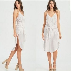 NEW Ivory buttom down midi dress